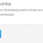 Twitter HTTPS aktivieren
